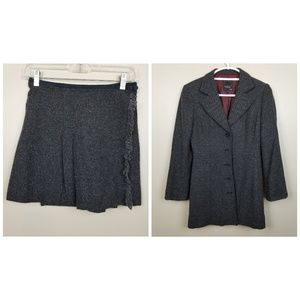 Nanette Lepore Wool Blend Skirt Suit size 2